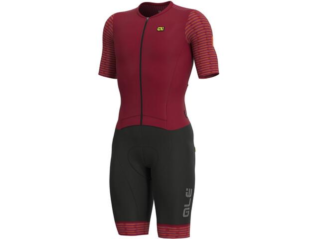 Alé Cycling R-EV1 Fuga Kombinezon z krótkim rękawem Mężczyźni, czerwony/czarny